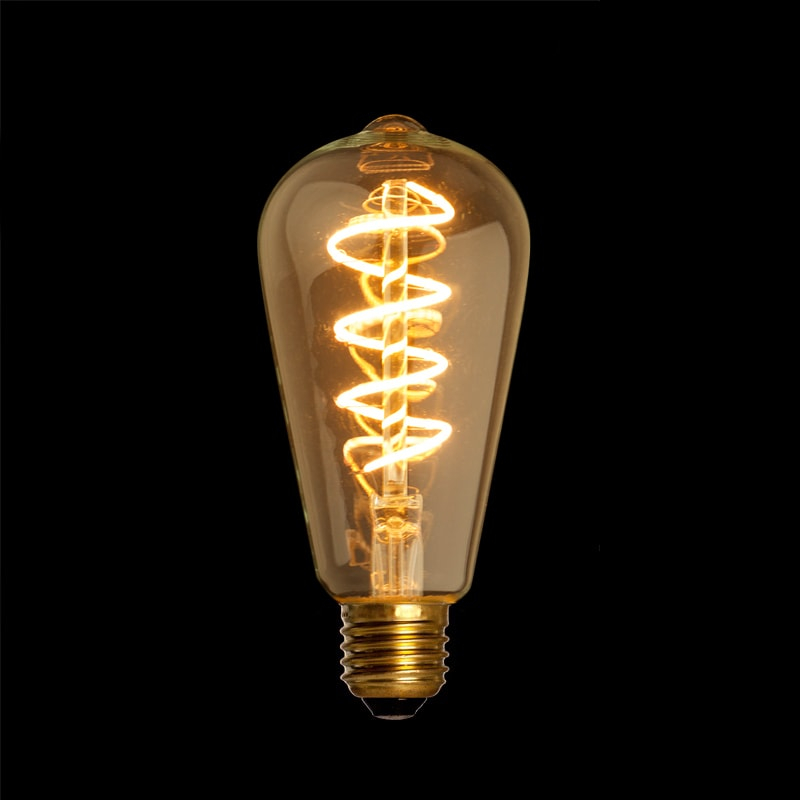 filament led lamp edison curl gold e27 4w. Black Bedroom Furniture Sets. Home Design Ideas