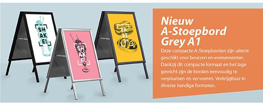 Nieuw Stoepbord Grey A1